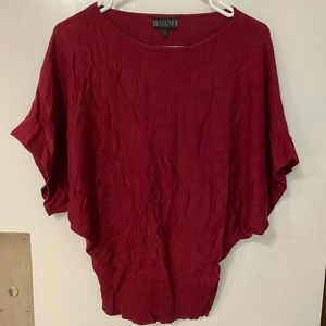Banded bottom batwing top